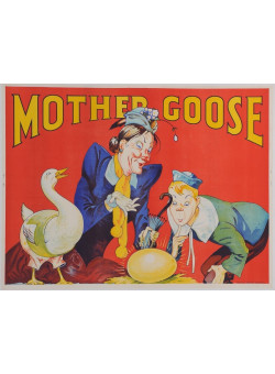 """Original Vintage Poster for """"Mother Goose"""" by Taylors Printers Wombwell ca. 1930"""