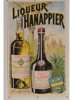 "Original Vintage French Alcohol Poster ""Liqueur Hanappier"" ca. 1920"