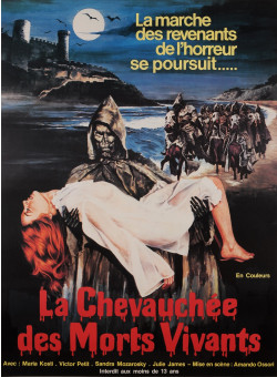 "Original Vintage French Movie Poster for ""LA CHEVAUCHÉE DES MORTS VIVANTS"" 1980"