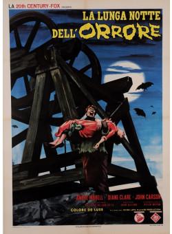 """Original Vintage Italian Movie Poster for """"LA LUNGA NOTTE DELL'ORRORE"""" 1966"""