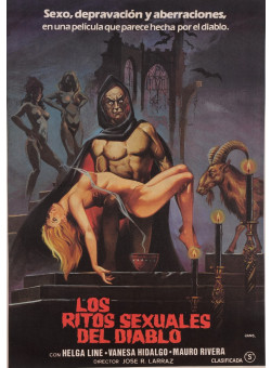 "Original Vintage Spanish Movie Poster for ""LOS RITOS SEXUALES DEL DIABLO"" by Jano 1982"