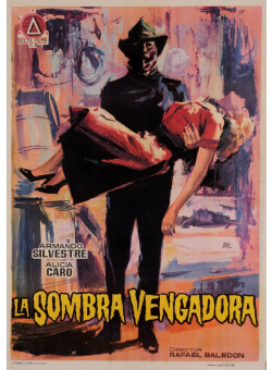 "Original Vintage Spanish Movie Poster for ""LA SOMBRA VENGADORA"" by JANO 1962"