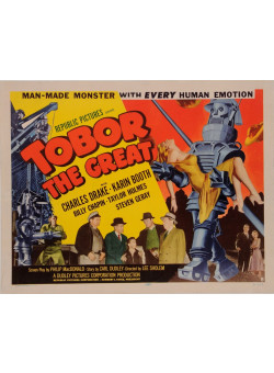 "Original Vintage American Movie Poster for ""TOBOR THE GREAT"" 1954"