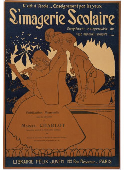 "Original Vintage French Poster for ""Simagerie Scolaire"" by A. Roubille ca. 1900"