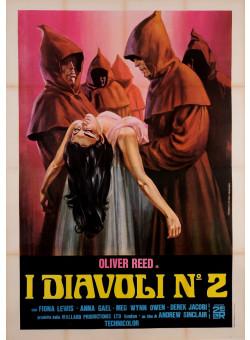 "Original Vintage Itralian Movie Poster for ""I DIAVOLI NO. 2"" ca. 1973"
