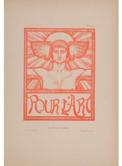 """Les Affiches Etrangeres """"Pour L 'Art"""" Stone Lithograph by E. Fabry 1897"""