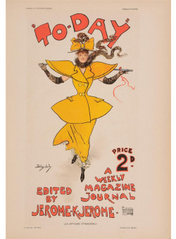 """Les Affiches Etrangeres """"Today"""" Stone Lithograph by Dudley Hardy - 1896"""