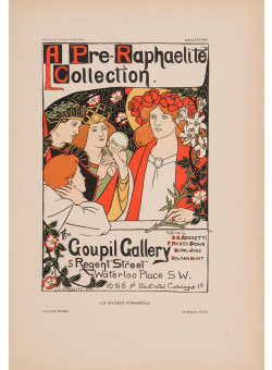"""Les Affiches Etrangeres """"Goupil Gallery"""" Stone Lithograph by Robertson - 1896"""