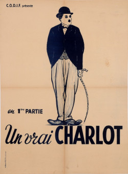 "Original Charlie Chaplin Movie Poster ""Un Vrai Charlot"" 1946"