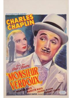 "Original Charlie Chaplin Movie Poster ""Monsieur Verdoux"" 1947"