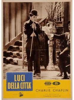 """Original Charlie Chaplin Movie Poster """"Lucci della Citta """" 1954"""