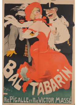 "Original Vintage French Poster ""Ball Tabarin"" by Grun 1904"