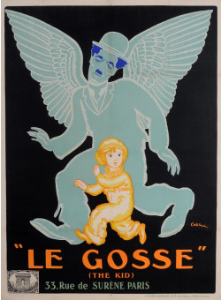"Original Charlie Chaplin Movie Poster ""Le Gosse (The Kid)"" by Jean Carlu 1921"