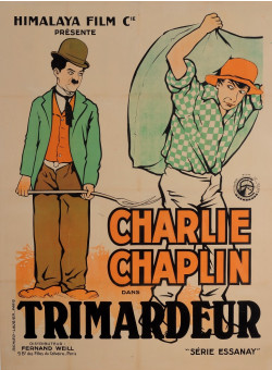 "Original Charlie Chaplin Movie Poster ""Charlot Trimardeur (Work)"" by Roberty"