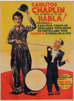 Original Spanish Charlie Chaplin Movie Poster Habla 1946