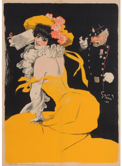 """Original Vintage French Poster """"Je Vais le Dire A Ta Merei"""" by Grun. Before Letters"""