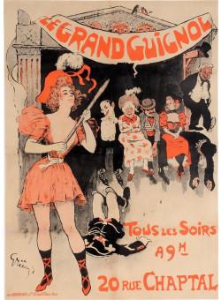 "Original Vintage French Poster ""La GrandGuignol"" by Grun. 1897"