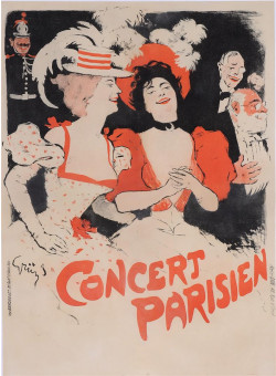 "Original Vintage French Poster ""Concert Parisienl"" by Grun 1897"