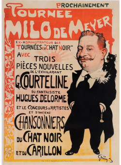 "Original Vintage French Poster ""Tournee Milo de Meyer"" by Grun 1897/1898"