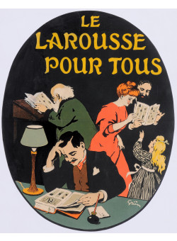 "Original Vintage French Poster ""Le Larousee Pour Tous"" by Grun 1905"