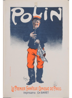 "Original Vintage French Poster ""Polin"" by Grun 1900"