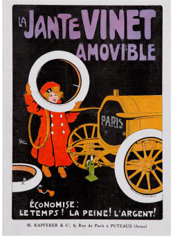 "Original Vintage French Poster ""La Jante Vinet Amovible"" by Grun 1905"
