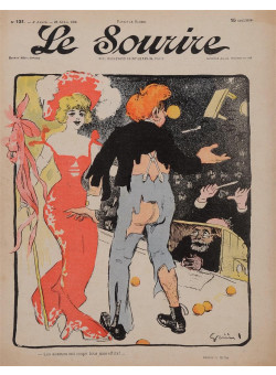 "Original Vintage French Poster for ""Le Sourire"" Magazine by Grun - April 1902"