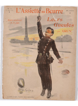 """Original Vintage French Collection of Lithographs """"L'Assiette au Beurre"""" by Grun 1903"""