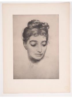 "Original French Lithograph ONLY L'Estampe Moderne N.23 ""Portrait"" by Bracquemond"