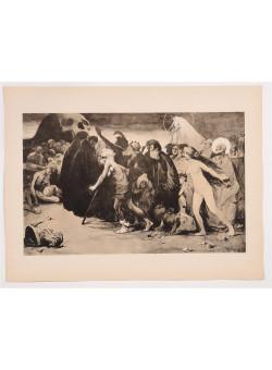 """Original Litho ONLY L'Estampe Moderne N.15 """"Le Chemin de la Mort"""" by TRIGOULET"""