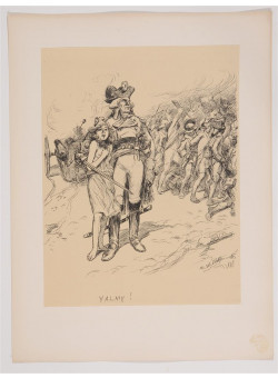 """Original French Litho ONLY L'Estampe Moderne N.24 """"Valmy"""" by Adolphe WILLETTE"""