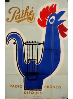 """Original Vintage French Poster """"Pathe"""" Radio by Savignac 1951"""