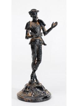 Vintage Iron Sculpture Figurine Don Quixote - Stamped