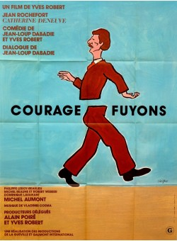"Original Vintage French Movie Poster ""Courage, Fuyons"" by Savignac 1979"