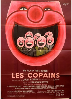 "Original Vintage French Movie Poster ""Les Copains"" by Savignac 1964"