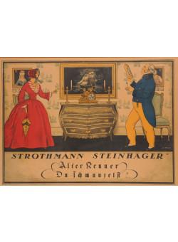 "Original Vintage German Alcohol Poster ""Strothmann Steinhager"" by Simon - Paper"