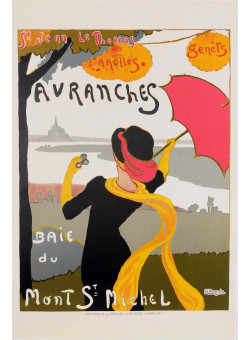 "Vintage Travel French 2nd Printing- Poster ""Avranches du Mont St Michel"" by Bergevin"