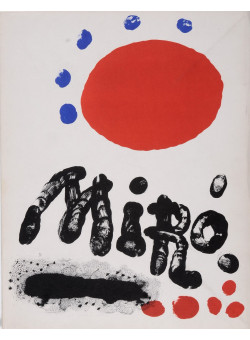 "Limited Edition No. 363 ""Miro Recent Paintings book "" with 3 Original Lithographs 1953"