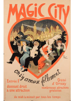 "Original Vintage French Poster ""Magic City"" by Grun ca. 1910"