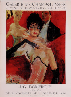 Original Vintage French Poster for an Exhibition of Jean Gabriel Domergue