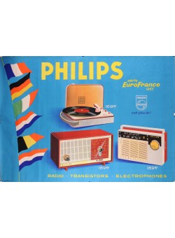 Original Vintage French Poster For  Philips Radio and Record Players