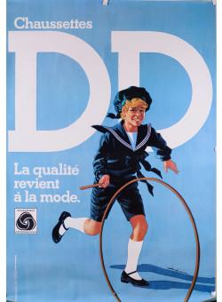 Original Vintage French Poster for Socks DD