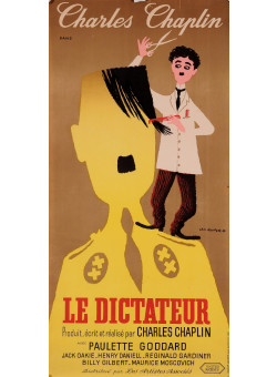 Original Vintage French Poster for Léo Kouper - Le dictateur (Charly Chaplin) - 1950s
