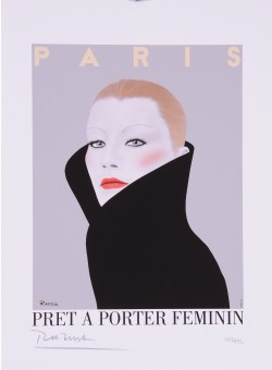 "Limited Ed. Hand Signed Print ""Pret A Porter Feminin"" by Razzia 151/995"