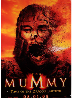 """Original Vintage French Movie Poster for the Movie """"Mummy"""""""