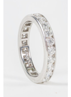 Platinum Engagment Ring Set With 23 Diamonds 6 Pt Each.Total  1.38 VVS/H