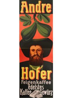 """Original Vintage German Poster for """" COFFEE NATIONAL Andre Hofer"""""""