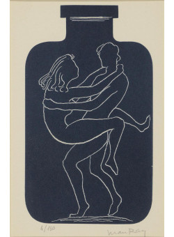 Original Erotic Lithograph by Man Ray  Signed and Numbered 4/150 , Framed