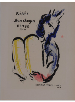 """Original Lithograph """"Bible Verve"""" by CHAGALL for """"Affiches Originales"""" 1959"""