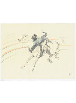 """Original Lithograph from """"The Circus Portfolio"""" by TOULOUSE LAUTREC 1990 26/350"""